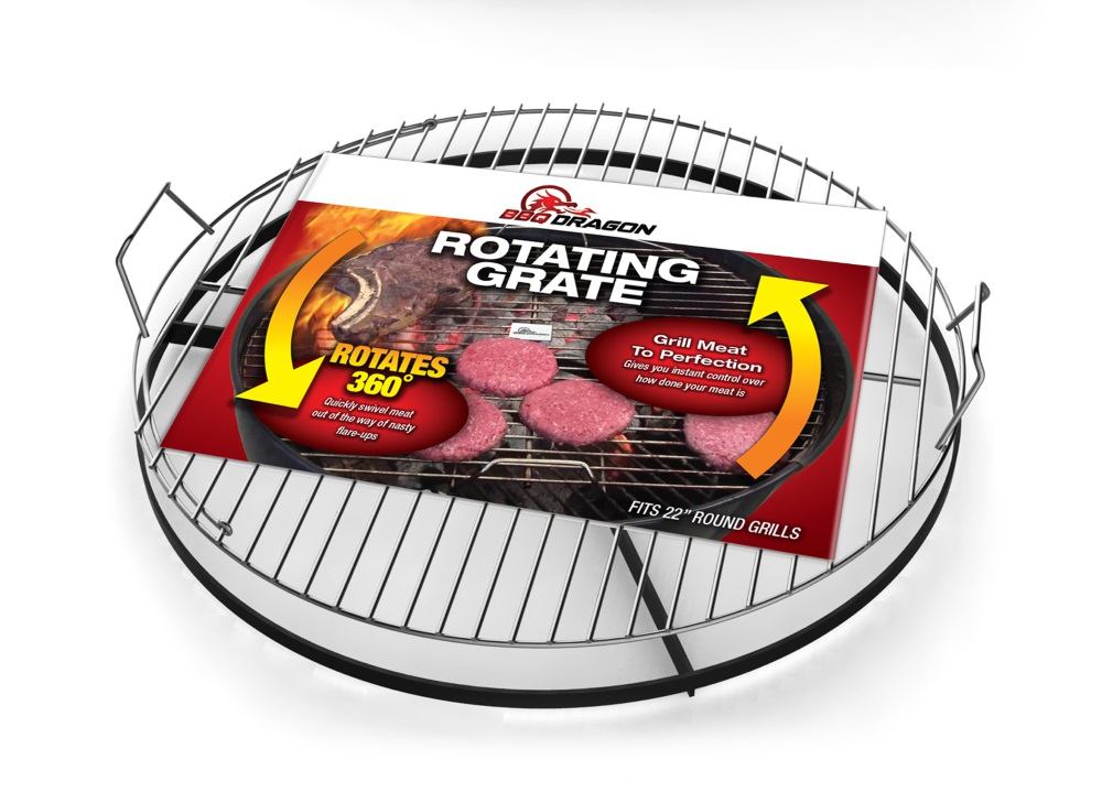 rotating grill grate