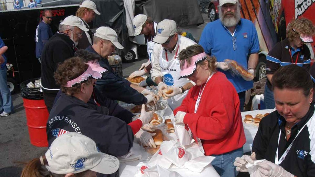 Serving Pork at the Track